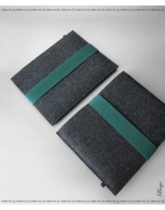 ARCHITECT Wollfilz Sleeve für Dein iPad graphit/tannengrün