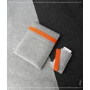 FELT DUETT set for iPad and iPhone light grey/orange